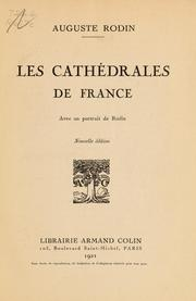 Les cathédrales de France by Auguste Rodin
