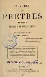 Devoirs des prêtres
