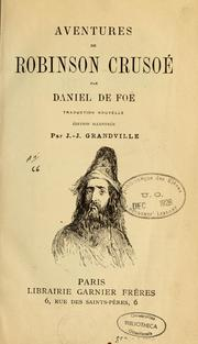 Aventures de Robinson Crusoe by Daniel Defoe