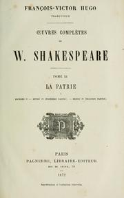 Cover of: uvres completes by William Shakespeare