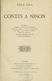 Cover of: Contes à Ninon by Émile Zola