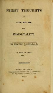 Night thoughts on life, death, and immortality PDF