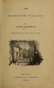 Cover of: The deserted village by Goldsmith, Oliver