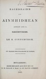 Eachdraidh nan ainmhidhean ainmicht&#39; anns na Sgriobtuiribh by R. Kinniburgh