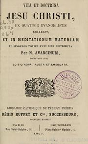 Cover of: Vita et doctrina Jesu Christi by Nicolaus von Avancini