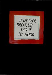 If we ever break up, this is my book PDF