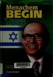 Menachem Begin by Virginia Brackett