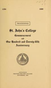 Proceedings, St. John's college commencement and one hundred and twenty-fifth anniversary PDF