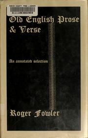 Old English prose and verse by Roger Fowler