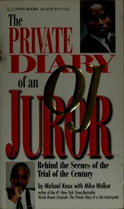 Private diary of an O.J. juror by Michael Knox