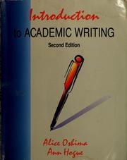 Introduction to academic writing by Alice Oshima