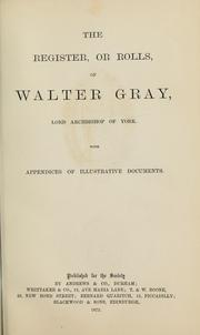 The register, or rolls, of Walter Gray, lord archbishop of York PDF
