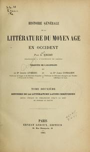 Histoire générale de la littérature du moyen age en occident