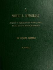 A Merrill memorial by Merrill, Samuel