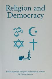 Religion and democracy by David Marquand, Ronald L. Nettler