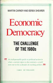Economic democracy by Martin Carnoy