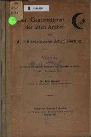 Der Gestirndienst der alten Araber und die altisraelitische Ueberlieferung by Fritz Hommel