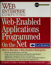Web-enabled applications programmed on the net by Robert Coen