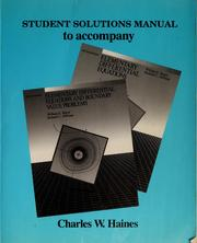 Student solutions manual to accompany Elementary differential equations, fifth edition, Elementary differential equations and boundary value problems, fifth edition, William E. Boyce, Richard C. DiPrima PDF