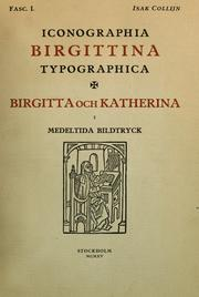 Iconographia Birgittina typographica by Isak Collijn