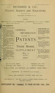 General information relating to patents and trade marks ... PDF