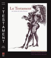 Le Testament 1923 Facsimile Edition by