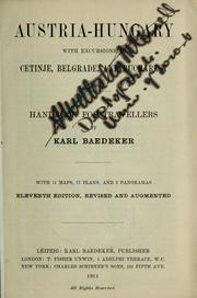 Cover of: Austria-Hungary by Karl Baedeker (Firm)