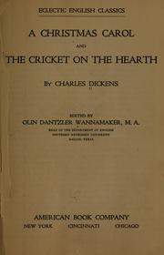 Cover of: A Christmas carol and The cricket on the hearth by Joss Whedon