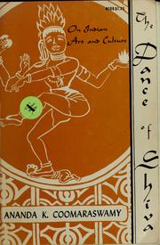The dance of Shiva by Ananda Kentish Coomaraswamy