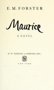 Cover of: Maurice by E. M. Forster