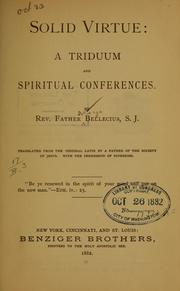 Solid virtue; A triduum and spiritual conference PDF