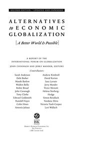 Cover of: Alternatives to Economic Globalization by John Cavanagh