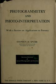 Photogrammetry and photo-interpretation PDF