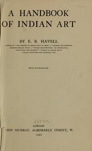 A handbook of Indian art by E. B. Havell