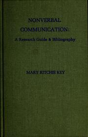 Nonverbal communication by Mary Ritchie Key