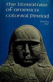 The literature of America: colonial period PDF