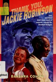 Thank you, Jackie Robinson PDF