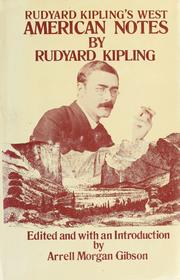 Cover of: American notes by Rudyard Kipling