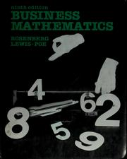 Business mathematics by R. Robert Rosenberg