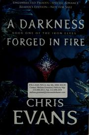 Cover of: A darkness forged in fire by Chris Evans