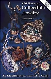 100 years of collectible jewelry (1850-1950) by Lillian Baker