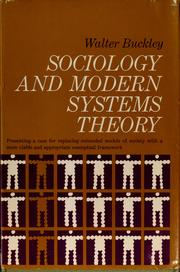 Sociology and modern systems theory by Walter Frederick Buckley