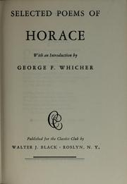 Selected poems of Horace by Horace, Horace