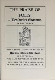 Cover of: The praise of folly by Desiderius Erasmus