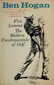 Cover of: Five lessons by Ben Hogan