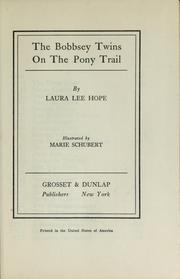 The Bobbsey twins on the pony trail by Laura Lee Hope