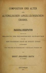 Composition & Alter der altenglischen (angels PDF