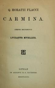 Cover of: Q. Horatii Flacci Carmina by Horace, Horace