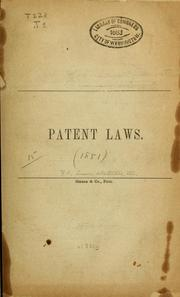 Patent laws PDF
