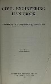 Civil engineering handbook by Leonard Church Urquhart
